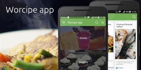 application cuisine android worcipe android recipe app source code food app