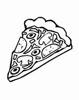 Pizza Coloring Pages Cheese Clipart Sheet Colouring Sheets Slice Printable Clip Theme Adults sketch template