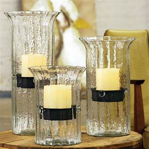 ribbed glass candle cylinders contemporary With kitchen cabinets lowes with tall glass taper candle holders