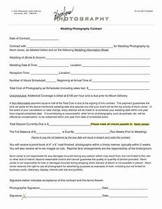 Wedding photography contract kevin jones photography for Wedding photography contract example
