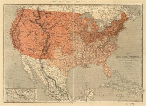 map   united states  north america upper
