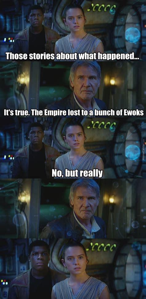 Star Wars The Force Awakens Memes - title awakens by finger v meme center
