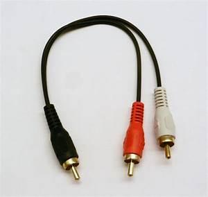 Rca Plug Male To 2 Rca Plug Male Y Splitter Audio Video