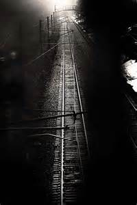 Black and White Railroad Tracks