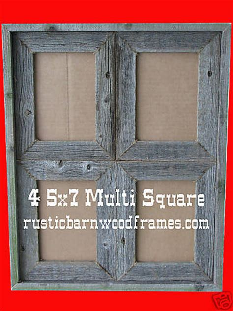 how to make barn wood picture frames 4 5x7 sq rustic barnwood barn wood multi picture frame ebay