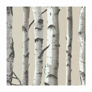provincial wallcoverings 2532 20418 irvin grey birch tree With kitchen cabinets lowes with birch trees wall art