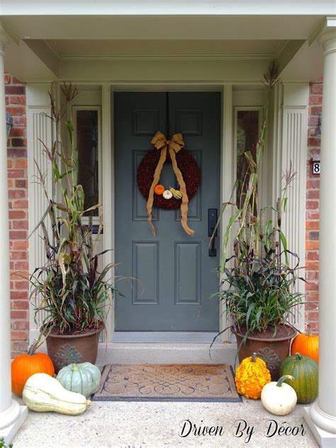 Decorating Front Porches by Decorating My Front Porch For Fall Driven By Decor