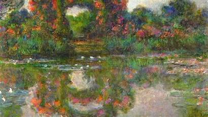 Monet Claude Wallpapers Iphone Paintings Backgrounds Classic