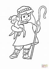 Coloring Hirte Shepherd Herder Lamb Pastore Ausmalbild Ausmalbilder Kleurplaat Sheep Kleurplaten Gratis Pastor Lamm Arm Hands Supercoloring Disegno Handwerk Berufe sketch template