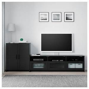 BRIMNES TV Storage Combination Black 258 X 41 X 95 Cm IKEA