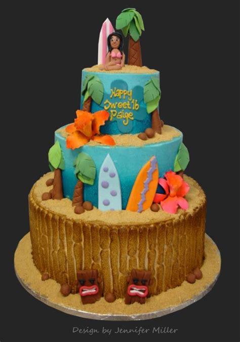Hawaiian Cake Decorations by Hawaiian Luau Hawaii Decorated Cake Hawaii Five O