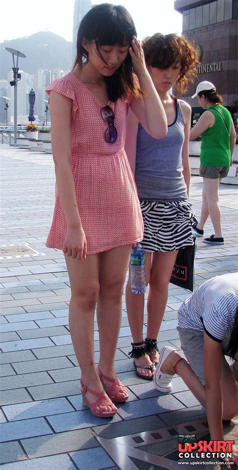 Horny Panties Peeking Up The Skirt In Voyeur Upskirt Free