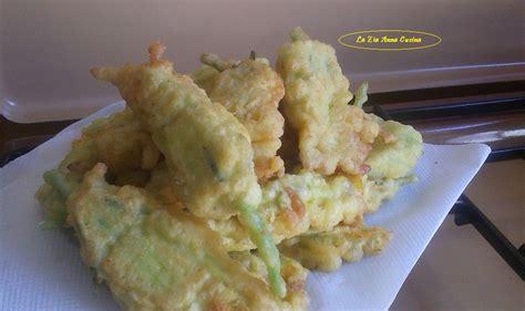 fiori di zucca con mozzarella alici in padella con aglio olio e limone la zia cucina