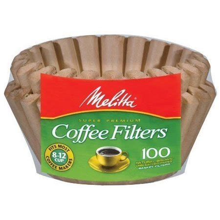 A great alternative to paper filters. Melitta 8-12 Cup Basket Coffee Filters Paper Natural Brown, 100 Count, 2 Pack - Walmart.com
