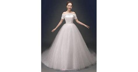 Ball Gown Chapel Train Wedding Dress -v-neck Satin,cheap
