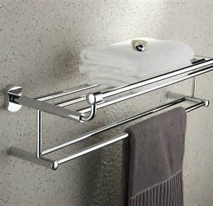 24 inch bathroom shelf solid brass chrome finishd with