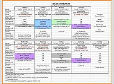 Family Vacation Itinerary Template Online Calendar Templates