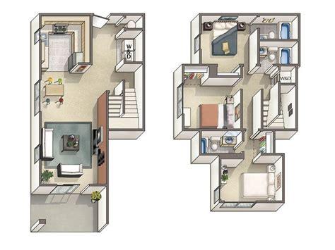 bedroom townhouse floor plans google search floor
