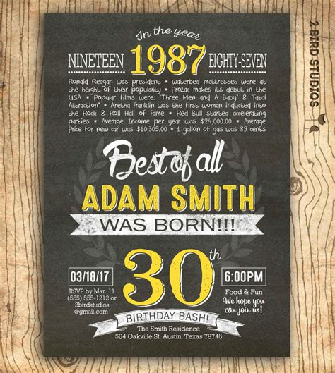 Cool FREE 30th Birthday Invitation Wording 30th birthday