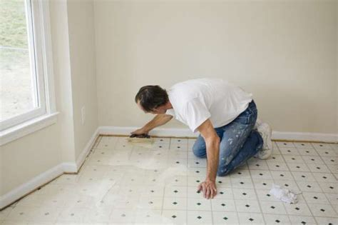 installing vinyl floor tiles on concrete
