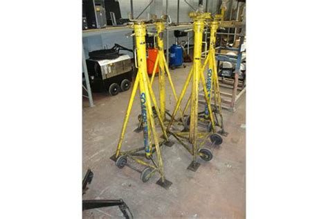 Set Of 4 Somers 7.5ton Capacity Heavy-duty Axle/jack Stands