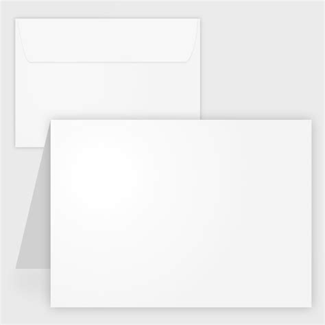 blank white matte printable note cards  envelopes