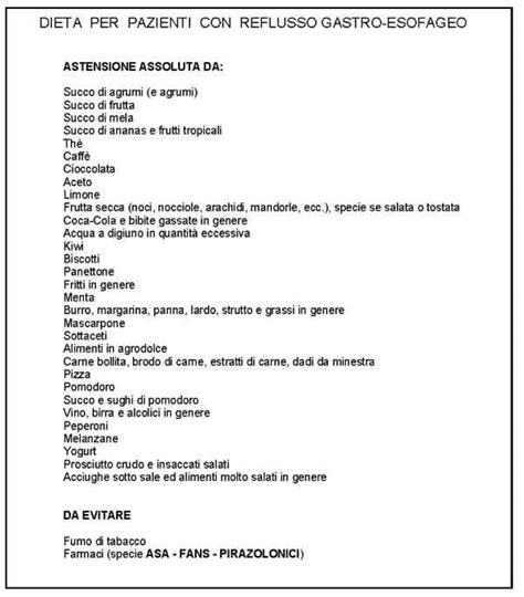 alimentazione per esofagite da reflusso 187 dieta per reflusso