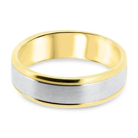 15 photo of two tone wedding bands for him