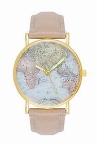 Armbanduhr Mit Weltkarte : damenuhr mit weltkarte globus farben beige gold uhr weltkarte damenuhren uhr weltkarte ~ Orissabook.com Haus und Dekorationen