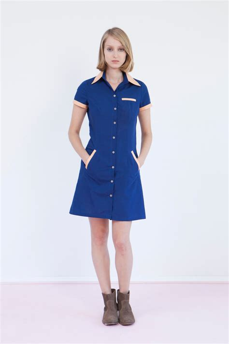 Waitress uniform retro dress diner dress blue dress by Biantika