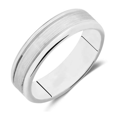 s wedding band in 10kt white gold