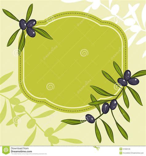 cuisine vert olive label pour l 39 huile d 39 olive de produit avec les olives