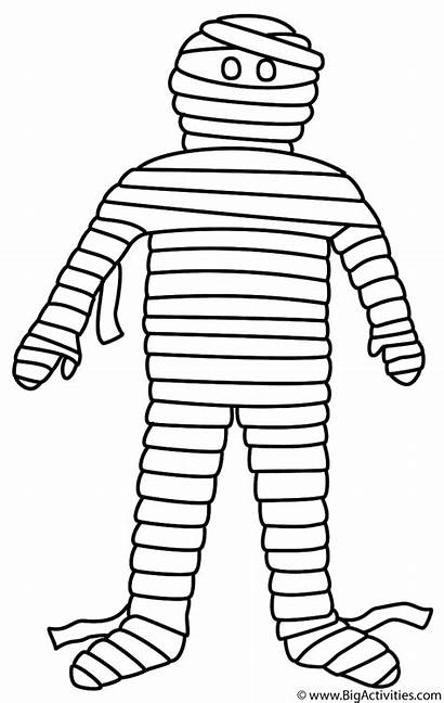 Mummy Coloring Halloween Pages Mummies Printable Template