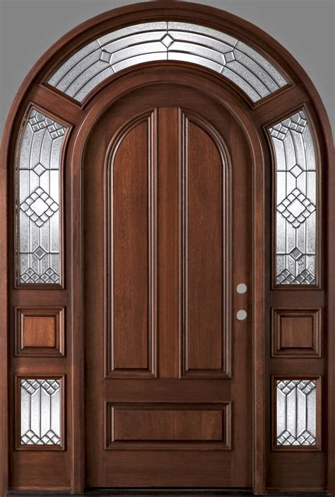 exterior  top doors  arched transom  sidelites