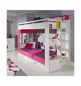 Lit Enfant Superposé : lits superposes daxi rose lit superpos d coration et design chambre d 39 enfant ~ Melissatoandfro.com Idées de Décoration