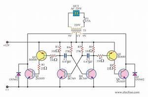 Simple 12v To 220v 180w Inverter Circuit Diagram Using