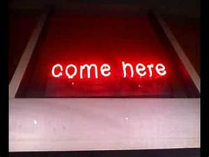e here neon sign Signs