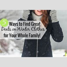 5 Ways To Find Great Deals On Winter Clothes  Frugal Rules