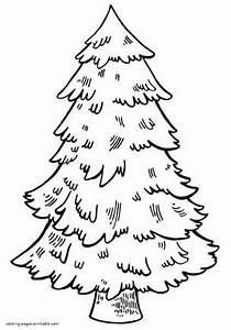 Not Decorated Christmas Tree  Coloring Pages