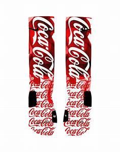Custom Coke Coca Cola Socks Custom Nike Elite Socks