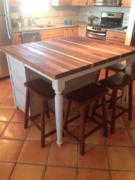 island tables for kitchen with stools best 25 butcher block island top ideas on