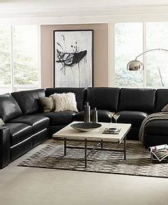fabrizio leather sectional sofa living room furniture With fabrizio leather 6 piece sectional sofa