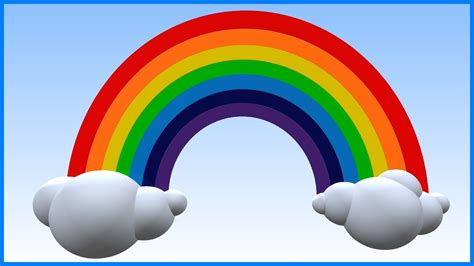 7 colors of rainbow rainbow colours learn rainbow color names teddy and