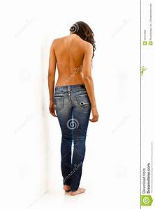Back View Of Woman In Jeans Stock Image