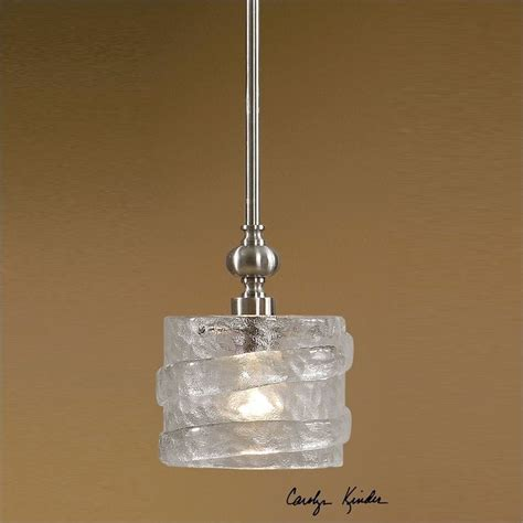 uttermost mossa 1 light seeded glass mini pendant 21925
