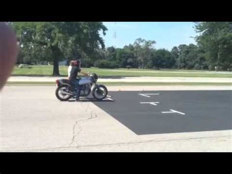 How To Pass Illinois Motorcycle Road Test! Full Test Youtube
