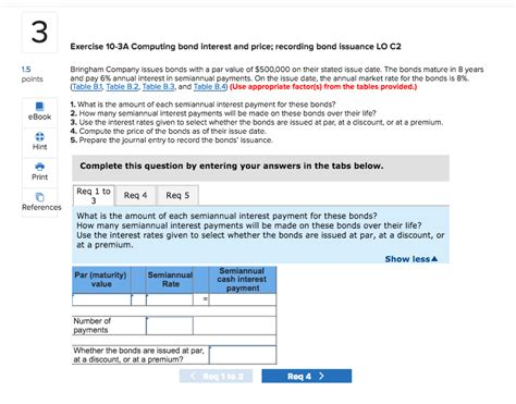 Solved: 3 Exercise 10-3A Computing Bond Interest And Price ...