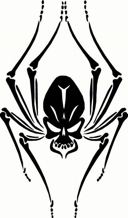 Skull Spider Tattoo Stencils Widow Stencil Tattoos