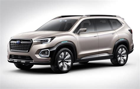 subaru viziv truck subaru previews new 7 seat suv with viziv 7 concept
