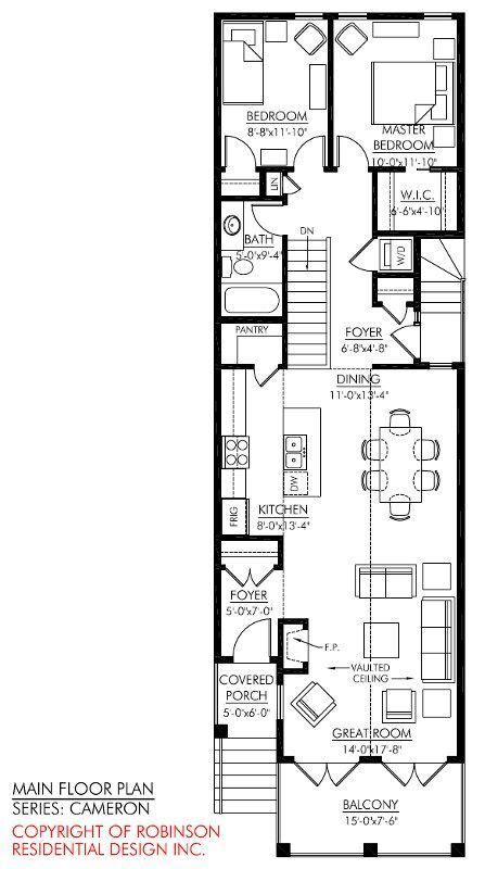 Narrow Home Plans by 2 Storey Narrow House Plans Search